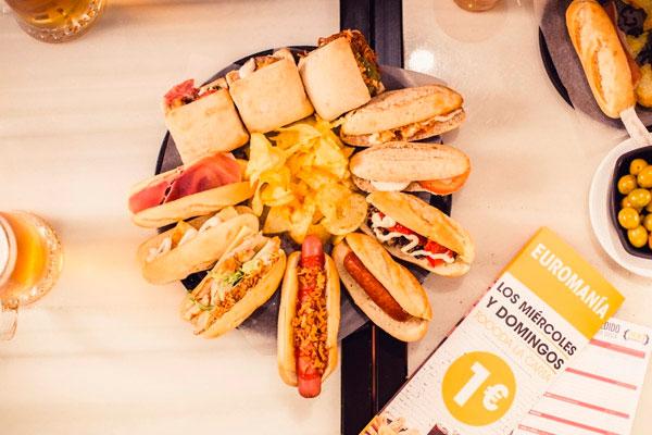 100 Montaditos Franquicias. Gastronomía tradicional, presentada de una manera muy original, con un sistema de entrega de pedido al cliente que le aporta un valor añadido y diferencial.