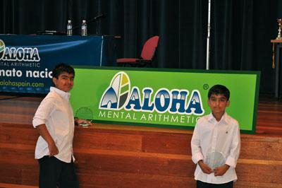 Dos alumnos de la franquicia ALOHA Mental Arithmetic en España, ganadores del Campeonato Mundial de Aritmética Mental para Niños