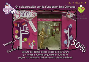 Berry´s colabora con la Fundación Luis Olivares para la lucha contra el cáncer infantil