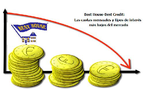 Best House-Best Credit: Las cuotas mensuales y tipos de interés más bajos del mercado