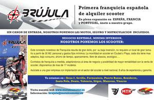 Brújula primera franquicia española de alquiler de Scooter en la revista