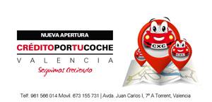Nueva apertura CreditoPorTuCoche en Valencia