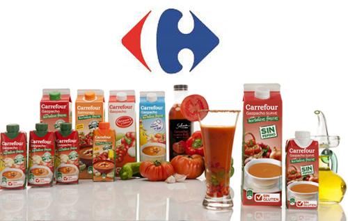 Carrefour ofrece una gama de gazpachos sin gluten y elaborados en España