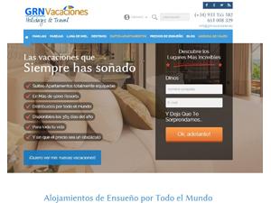 GRN Vacaciones renueva su web y presenta la ampliación de sus servicios incorporando una Agencia de Viajes