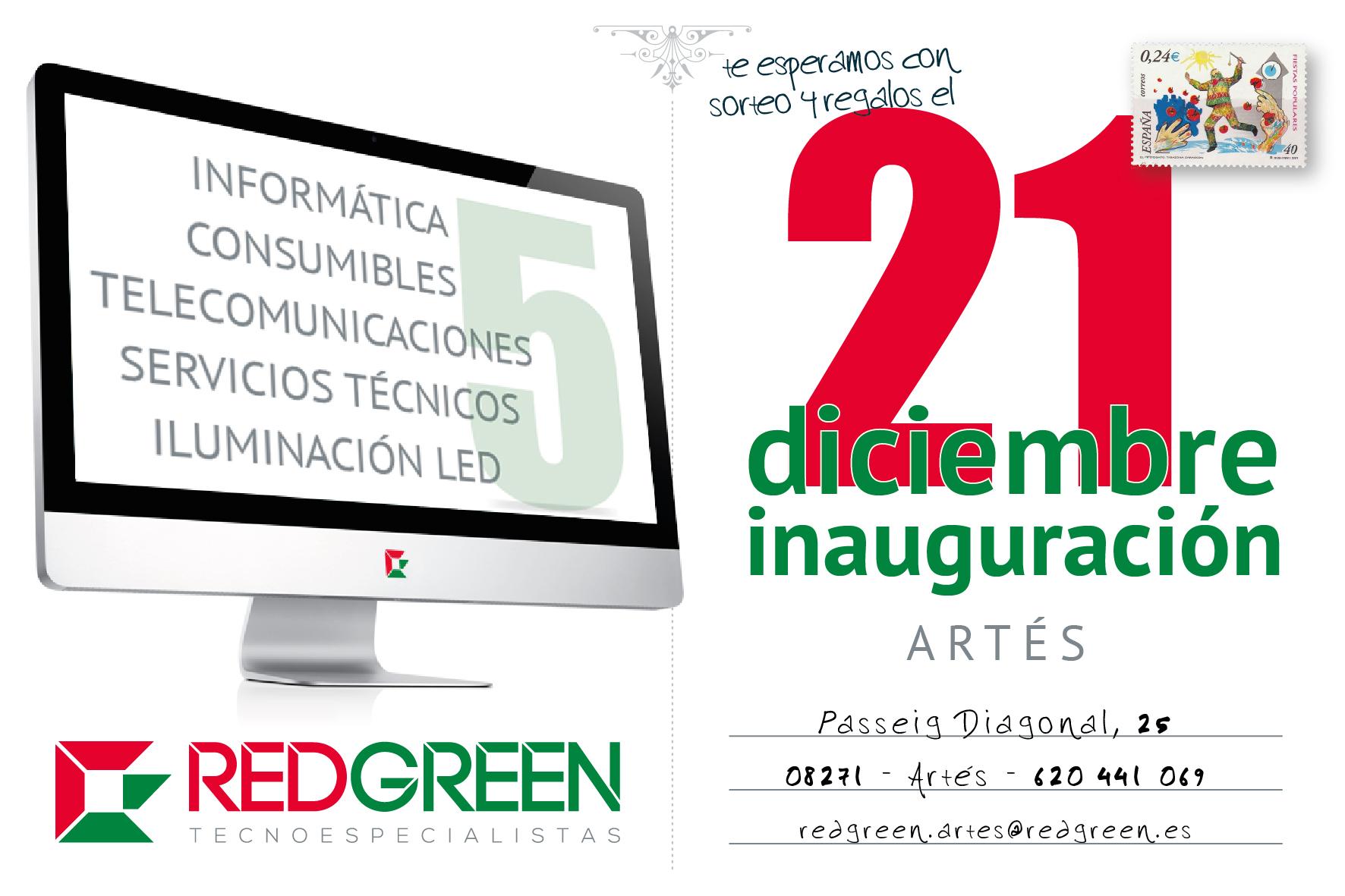 Redgreen inaugura su nueva franquicia REDGREEN ARTÉS