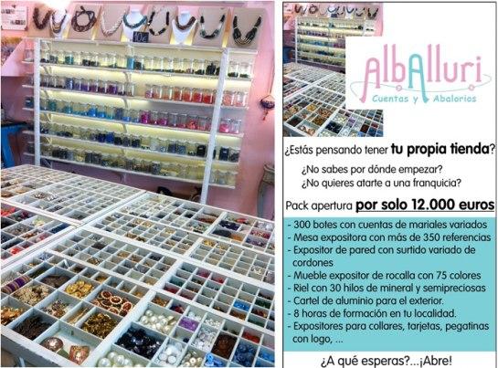 Franquicia Alballuri. Franquicias de  Tiendas Especializadas, Cuentas y Abalorios.