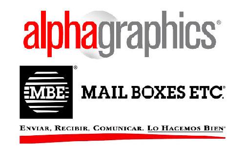 Franquicias Mail Boxes Etc., Tanto MBE como AlphaGraphics trabajan en el sector de los servicios a empresas y particulares, a través de una red de puntos de venta retail