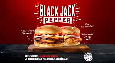 BURGER KING® ESPAÑA presenta Black Jack Pepper