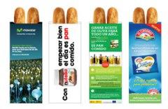 Franquicias Publipan. Se encargan de diseñar una bolsa para servir barras de pan; la estampamos con varios espacios publicitarios, informativos y de ocio.