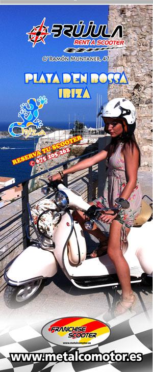 Nueva apertura Brújula Alquiler de Scooter  en IBIZA, Playa d'en bossa