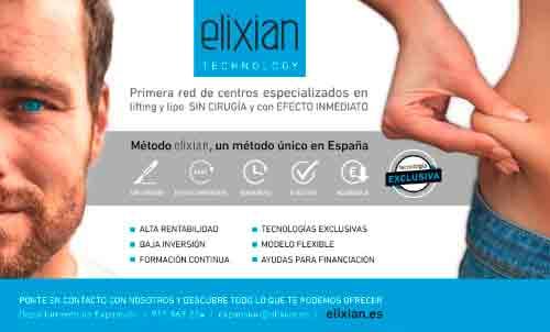 Franquicias Elixian TECHNOLOGY,  recibe una gran acogida en SIF-Feria de Valencia, de su novedoso modelo de negocio de centros especializados en lifting y lipo SIN CIRUGÍA y con EFECTO INMEDIATO.