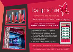 Kaqprichie, desde 2.739 €. lanza una nueva oferta de mueble expositor
