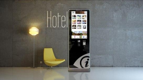 Infotactile Franquicias. Su modelo de negocio consiste en la comercialización de espacios publicitarios dentro de un dispositivo táctil que se instala en las recepciones de los mejores hoteles del país