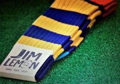 Jim Lemon Franquicias. Todos los Calcetines JIM LEMON son fabricados con Algodón de Escocia de Primera Calidad mercerizado y cuentan con la Certificación OEKO-TEX®  para ofrecer la máxima Calidad y Confort.