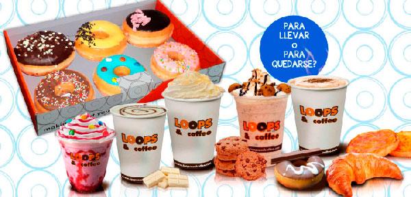 Loops and Coffee Franquicias. Los locales de Loops and Coffee aúnan dos productos de venta rápida y con grandes beneficios: el café y los dulces, con estas rosquillas exclusivas americanas.