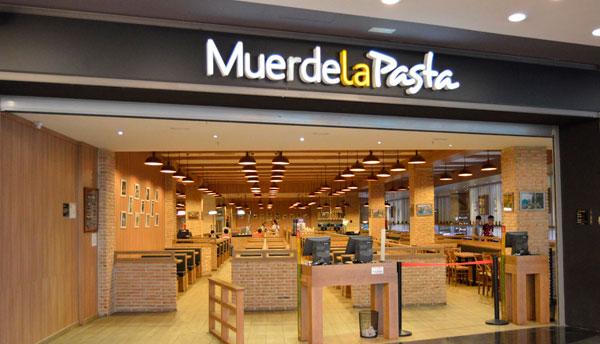 Muerde la Pasta Franquicias. Restaurantes italo-mediterráneos que destaca por su original concepto de buffet a precio cerrado.