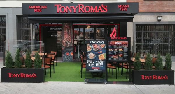 TONY ROMA´S alcanza los 21 establecimientos en Madrid