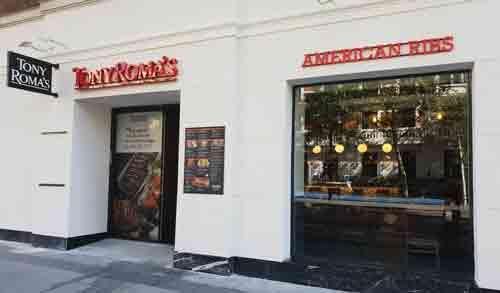 TONY ROMA´S alcanza los 20 Restaurantes en Madrid