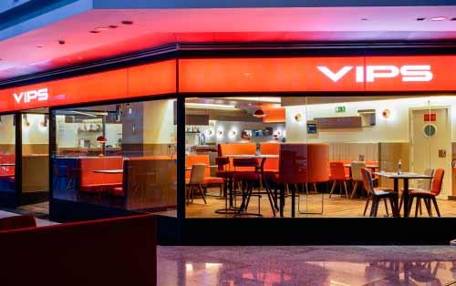 """VIPS Franquicias. VIPS se caracteriza por su concepto """"Muy abierto"""", que implica una amplia oferta atractiva para todos los gustos, edades y momentos de consumo. Franquicias rentables, franquicias de exito"""